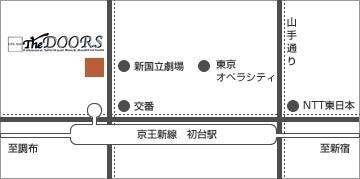 初台ドアーズ doors 行き方 道順 アクセス マップ