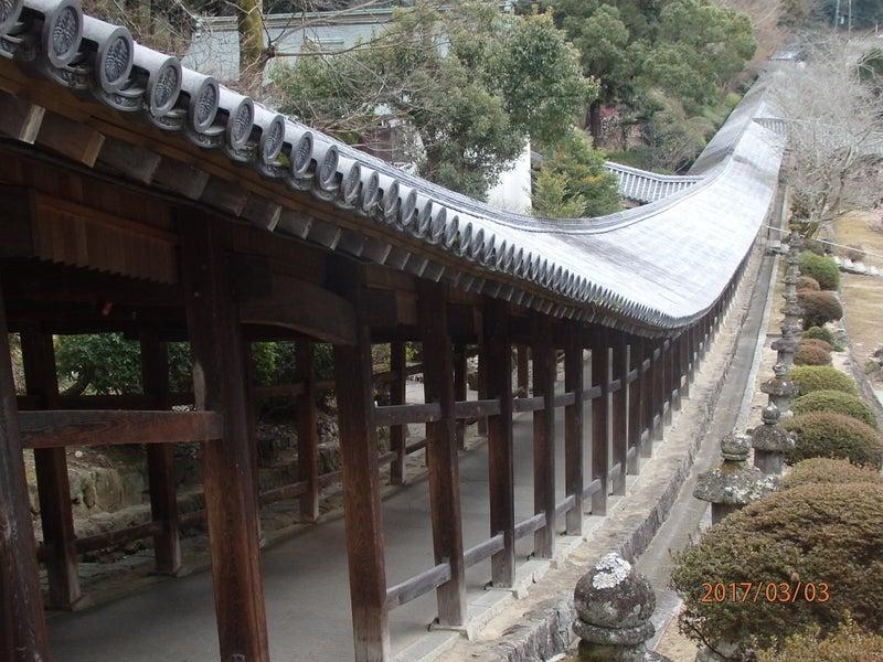 壮大な回廊の吉備津神社・と・吉...
