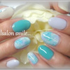 Blue feather nailの画像