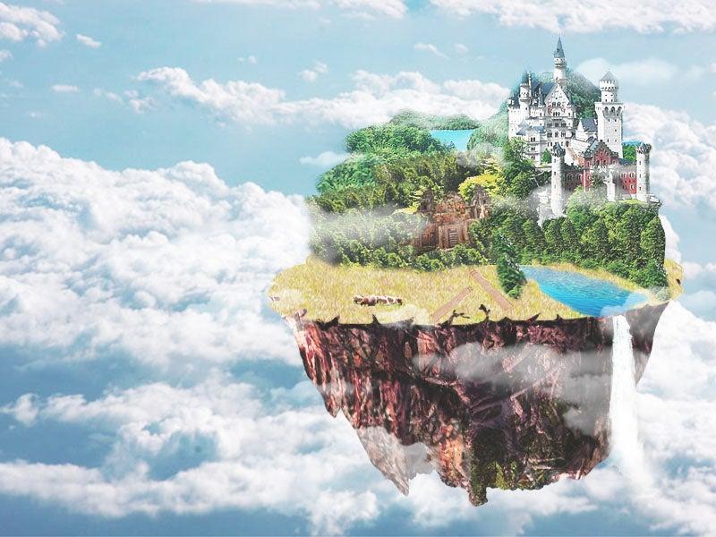 天空の城をphotoshopで描いてみた イラスト初心者がどこまで上達するか