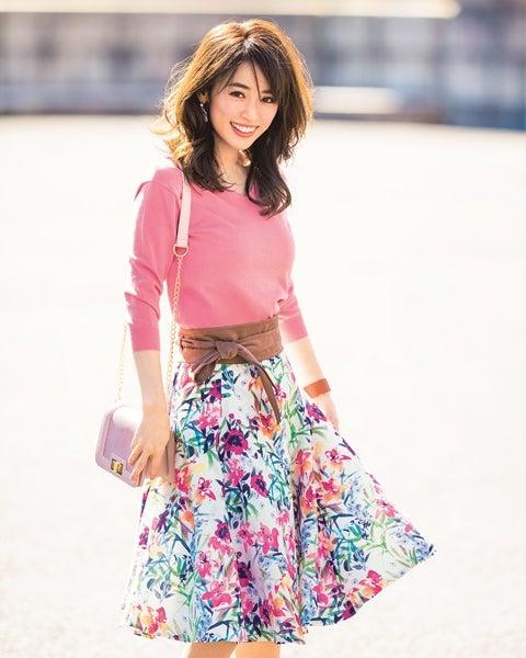 春ファッションの泉里香