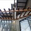 木製パーゴラとガラスブロック 京都市山科区 セルフビルドリノベーションの画像