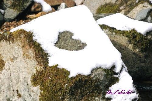 雪のハート模様♡