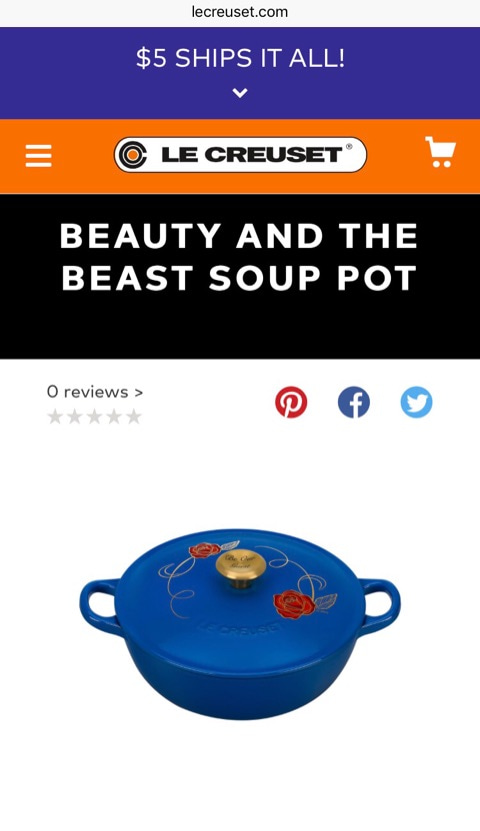 Le Creuset Beauty And The Beast Enjoy America