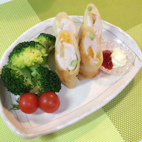 あきちゃんちの ラララ♪ごはん♪ 鶏むねチーズ春巻き編の記事に添付されている画像