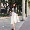 ザ!定番♡上品な膝丈♡ボックスタックタフタスカートの画像
