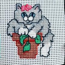猫のクロスステッチ