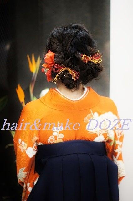 卒業式~袴お着付けヘアセット。