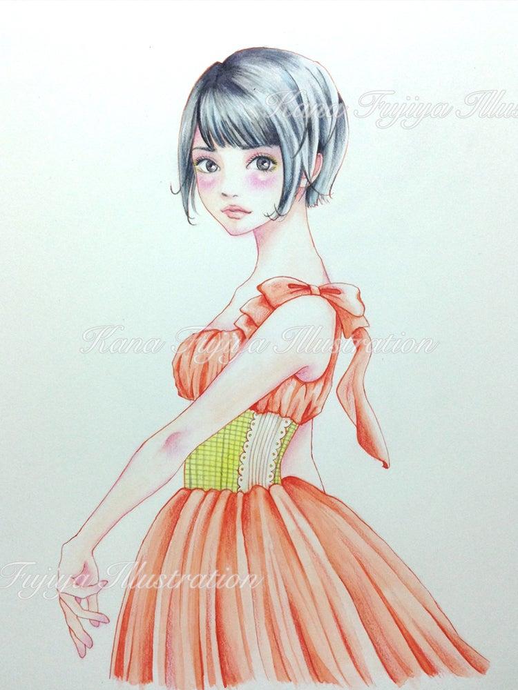イラストメイキング 水彩絵の具と色鉛筆で描く ボーイッシュショートの女の子 イラストレーター カナ
