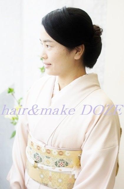 卒園式~お母様のお着付けヘアセット。