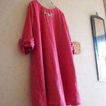 カロチャ刺繍のワンピ