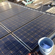 太陽光パネルのお掃除