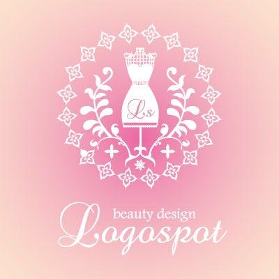 女性向けロゴデザイン,可愛いのザインの看板ロゴ