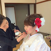 武蔵御嶽神社 和装洋髪ウエディングの画像