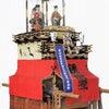 西之口「雷神車」の大将人形交代の画像
