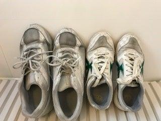 靴の汚れは酸素系漂白剤でつけ置き洗い