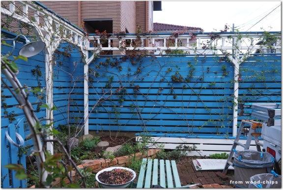 バラの庭 パーゴラ フェンス