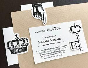 名刺 デザイン 名刺作成 おしゃれ しおり名刺 挟める名刺