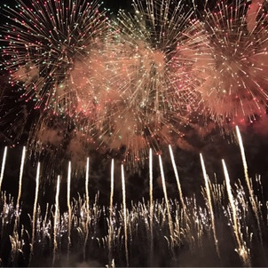 日本一早い花火大会 琉球海炎祭の画像