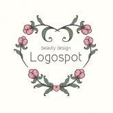 可愛いロゴ作成,エステロゴマーク,可愛いデザインのフラワーロゴ,ネイルサロンロゴ