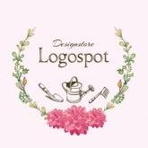 可愛い雑貨屋サロンロゴ,フラワーショップ開店ロゴ