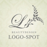 高級感デザインのエステロゴ,美容サロン看板ロゴ