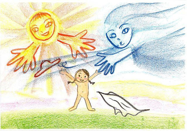 北風と太陽、どっちのお母さんに...