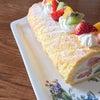 春のロールケーキの画像