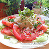 誉められドレッシングde*トマトと玉ねぎのサラダ*の画像