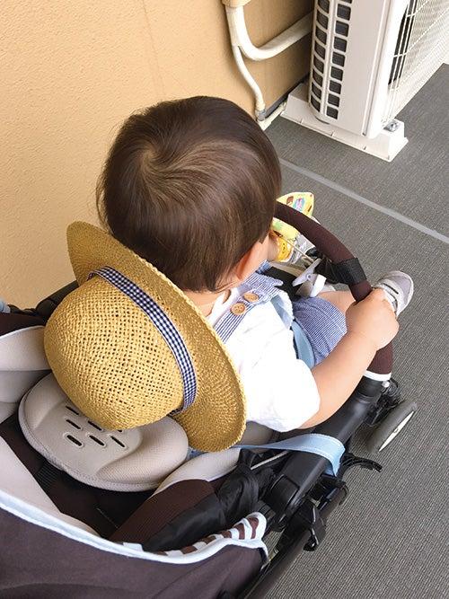 1歳4ヵ月_日よけ帽子_ホットビスケット