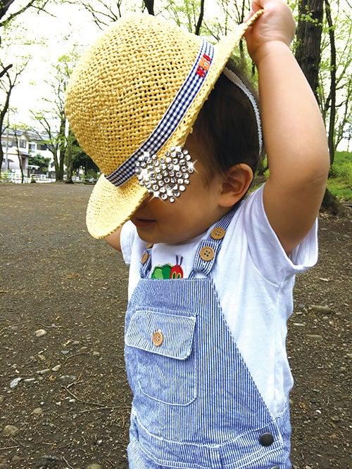 1歳4ヵ月_紫外線対策_麦わら帽子