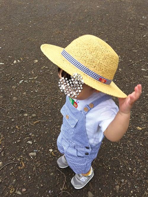 1歳4ヵ月_日よけ帽子_中折れハット