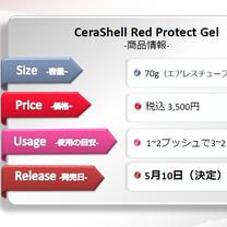 新商品『CeraShell RedProtectGel』の発売日は【5月10日】の記事に添付されている画像