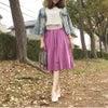 カジュアルにも♡キレイめにも♡【Made in JAPAN】コットンボイルギャザーフレアスカートの画像