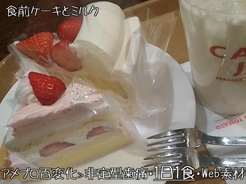 1日1食・食前ケーキ×2