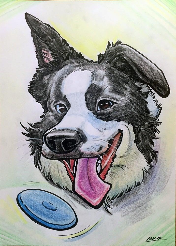 ペット犬の似顔絵