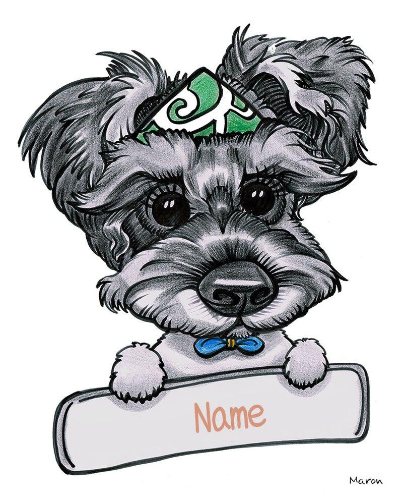 プロフィール用のペット犬の似顔絵