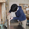 サッシュベルトとまな板削りの画像