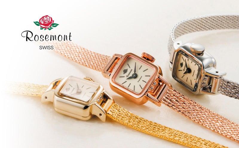 """dcc7efb3cc 当時はローズウッドを使用したクロックを製造しており、""""Rosemont""""の名前はROSE MONTRE (薔薇の時計)に由来しています。"""