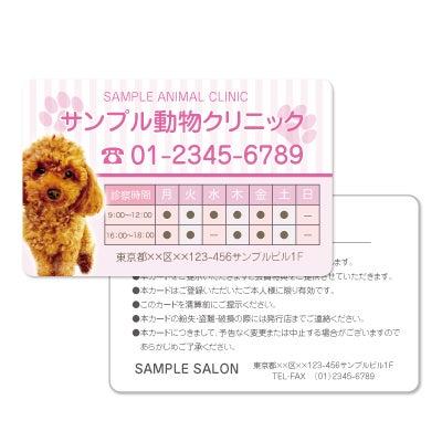 かわいい名刺,美容名刺,テンプレート,作成,作り方,ペットサロンのかわいいメンバーズカード作成