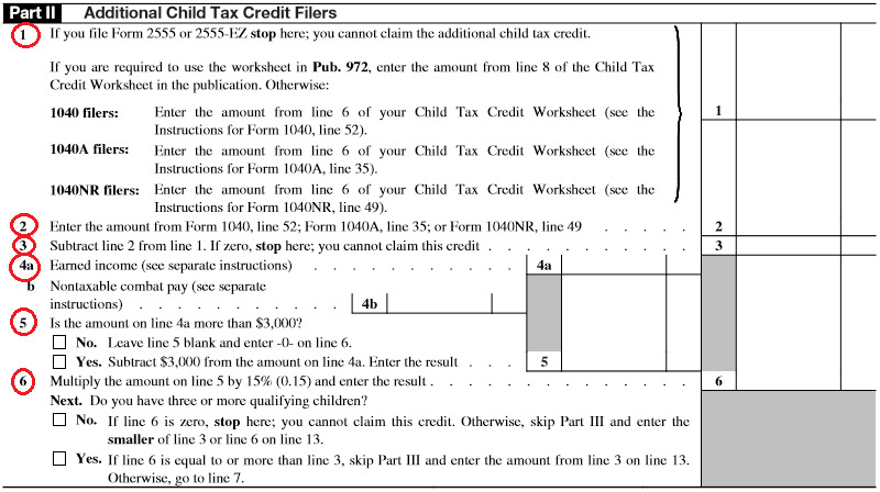 Additional Child Tax Credit Filers