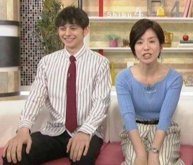 お天気の福岡さんをチェックしていたら廣瀬智美アナのニット乳の