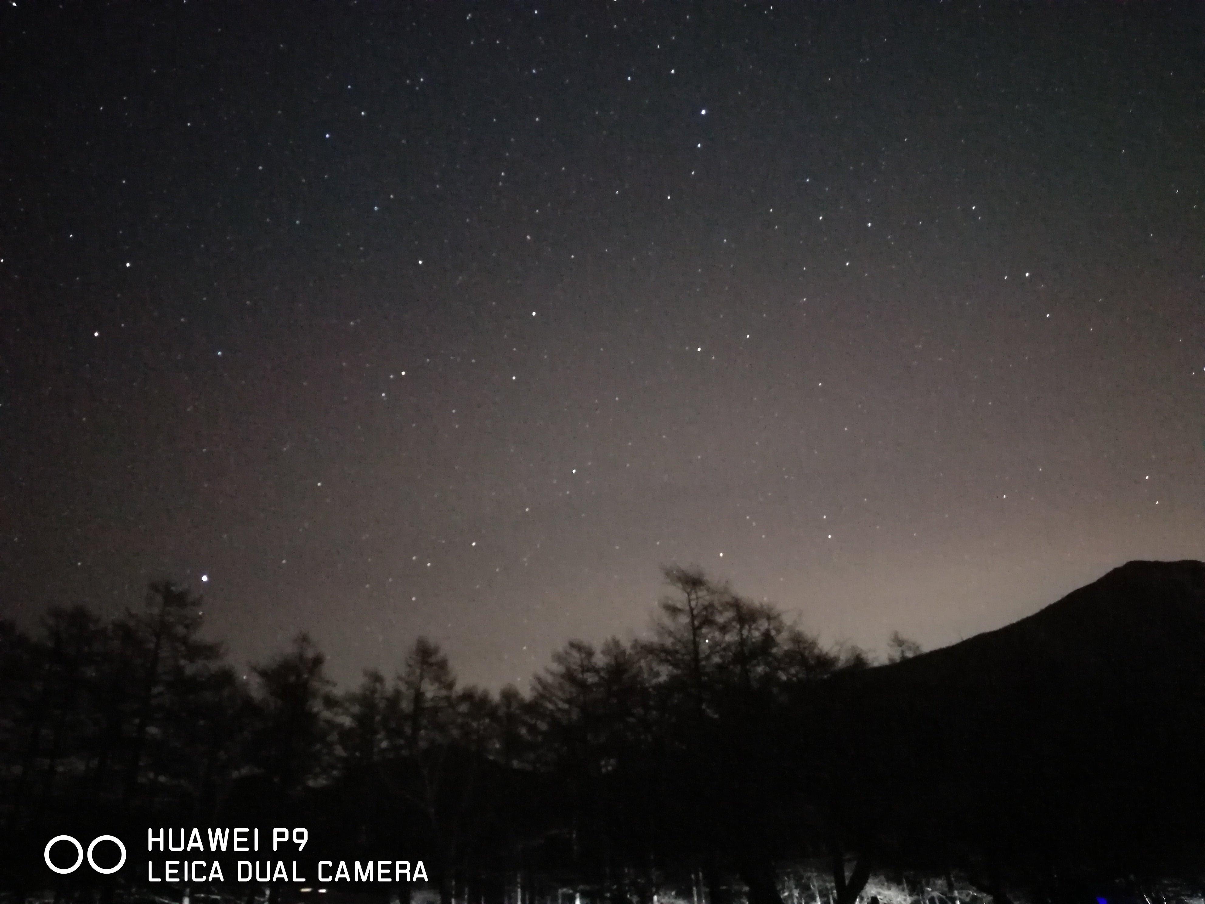 スマホでの星景写真撮影 HUAWEI P9