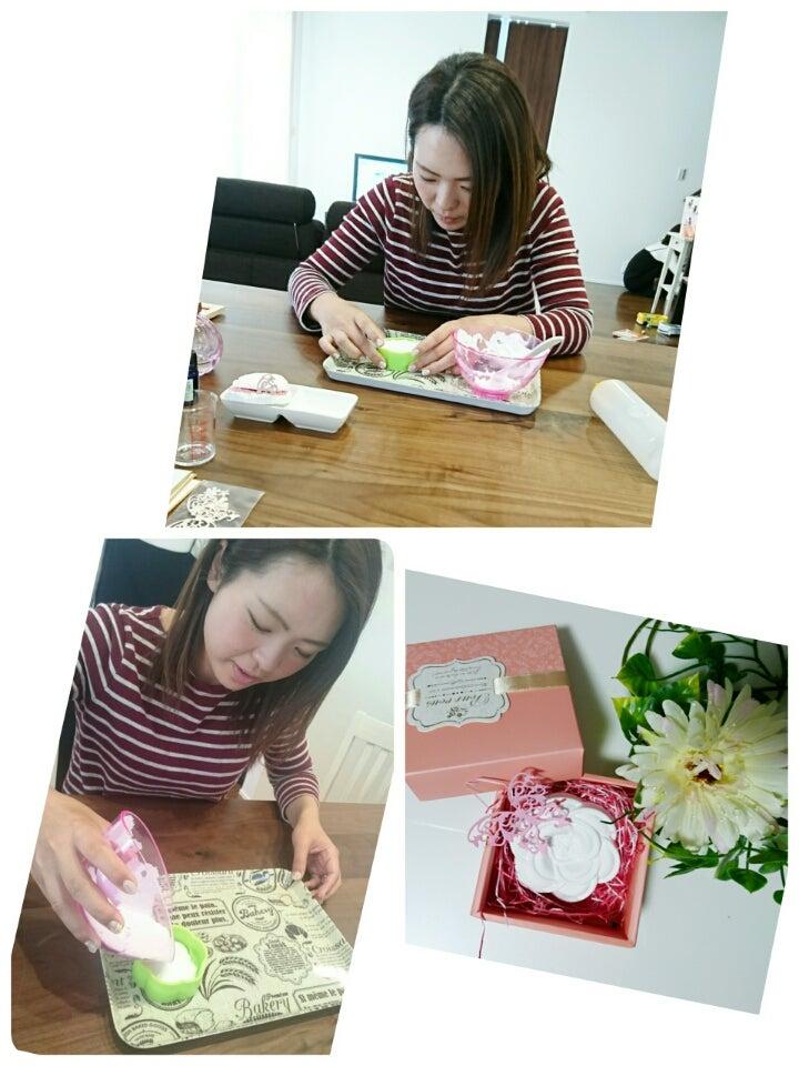 パン作り&母の日の手形足形アート アロマフレグランスストーン kamekameの記事より