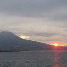 ベスビオ山の朝日