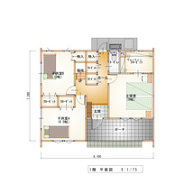 床面積30坪台の1階…