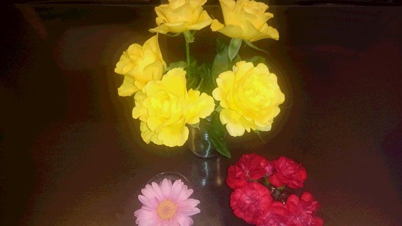 花をかざる