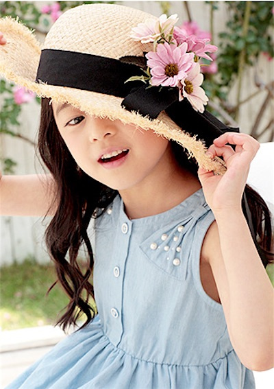 353de3ddd172b 女の子用 ペペ 麦わら帽子