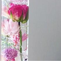 お花入り液体ガラスドームの接着剤についての記事に添付されている画像