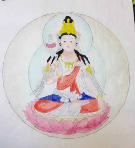 弥勒菩薩彩色仏画